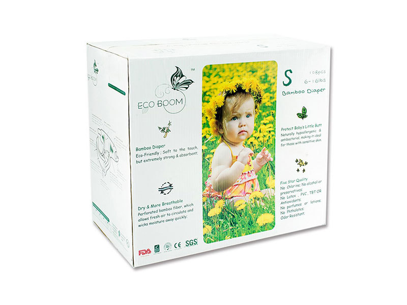 Organic Box Of Baby Diapers In Cartons Size S