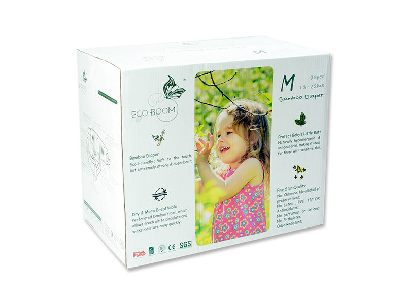 Biodegradable Disposable Baby Boxed Diapers Size M 96Count