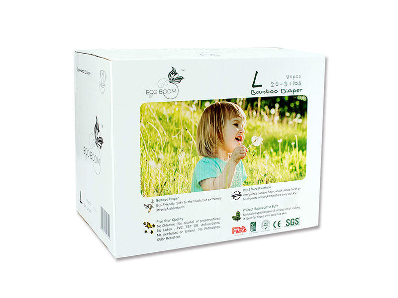 Bamboo Big Box Of Diapers Biodegradable In Cartons Size L