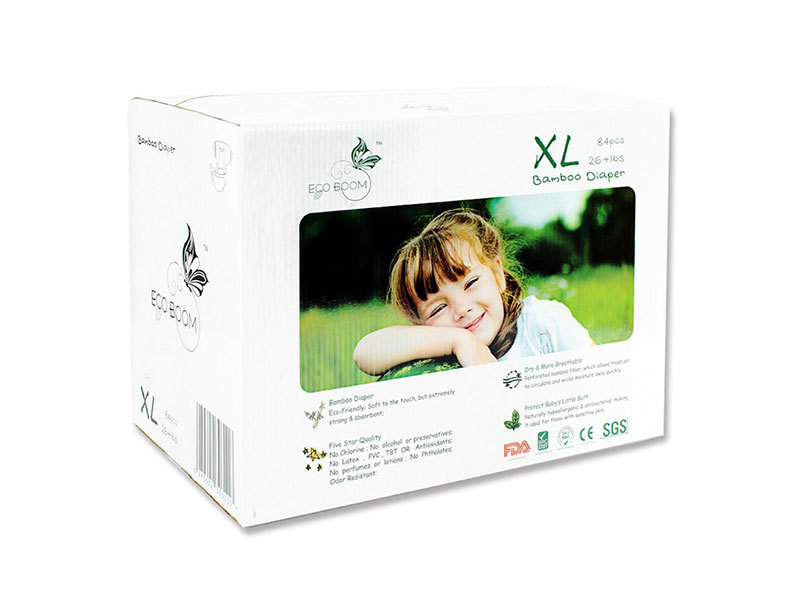 Bamboo Boxed Diapers Natural For Baby XL