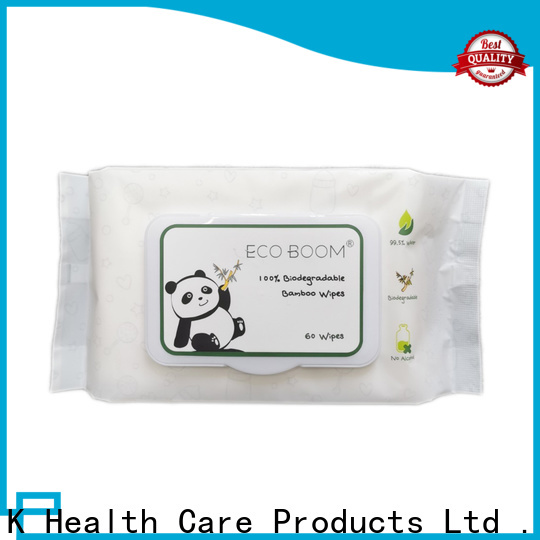 ECO BOOM organic flushable baby wipes for business
