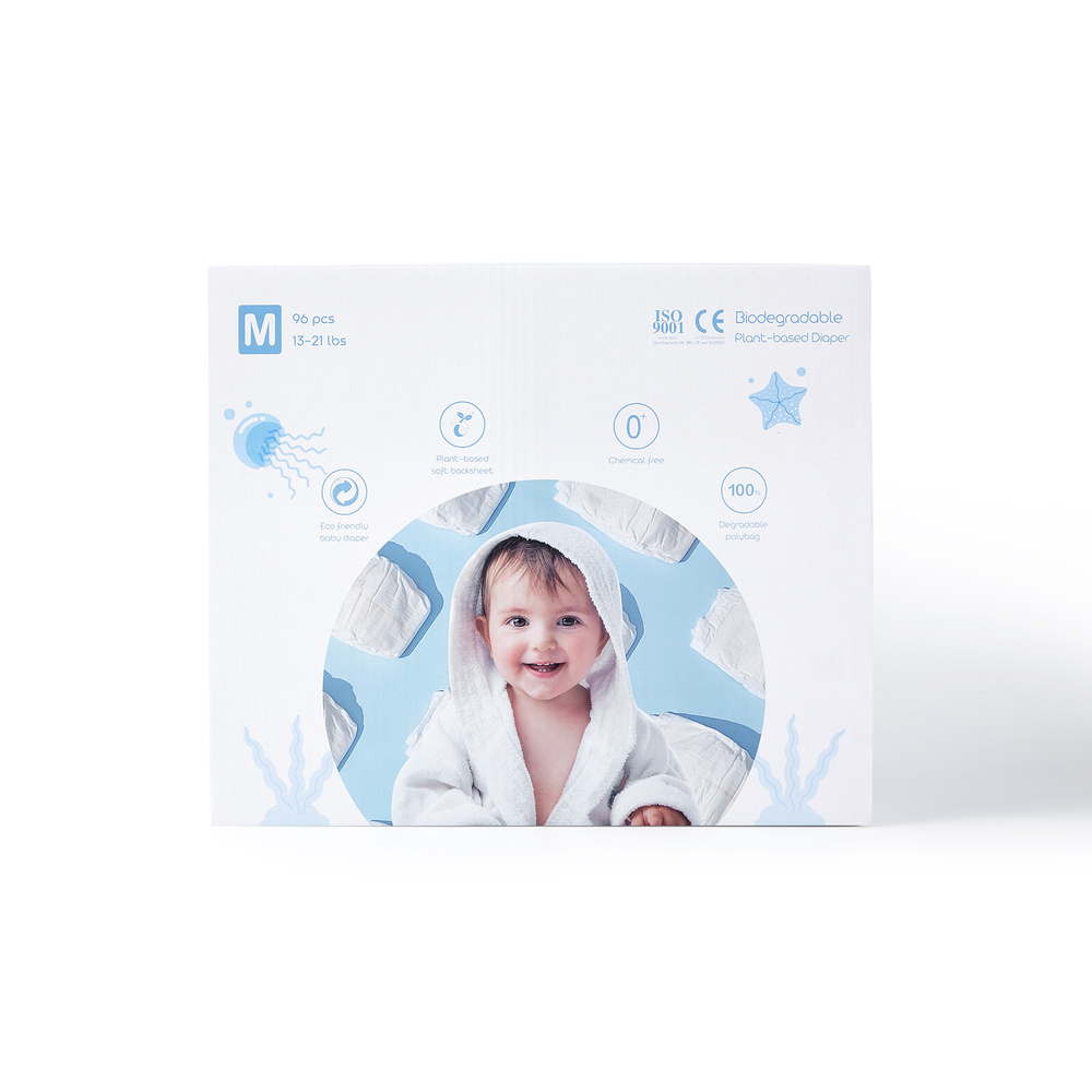 ECO BOOM Boxed Plant-based Diaper Size M