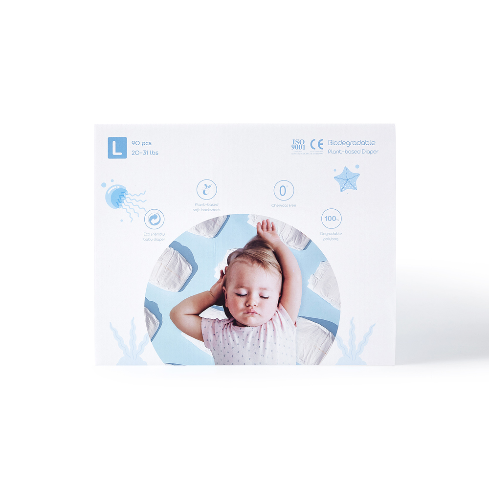 ECO BOOM Boxed Plant-based Diaper Size L
