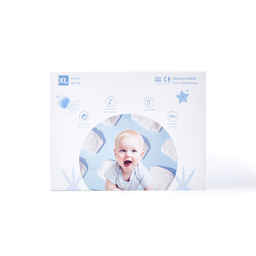 ECO BOOM Boxed Plant-based Diaper Size XL